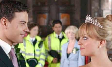 Coronation Street: wedding of Sarah Platt and Jason Grimshaw