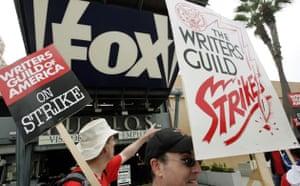 Writers Guild of America strike, Fox building