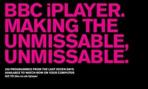 BBC 'unmissable' iPlayer ad