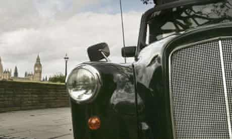 Black cab (London taxi) stock pic