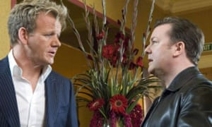 Extras Christmas special: Gordon Ramsay and Ricky Gervais