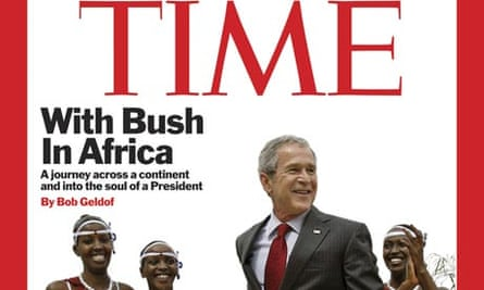 Time magazine - Bush/Geldof cover