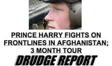 Drudge Report - Prince Harry story