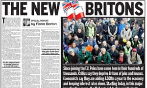 Daily Mail - coverage of Polish workers in UK