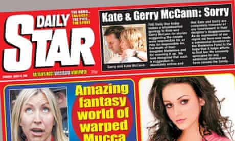 Daily Star - apology to McCanns