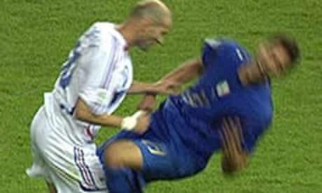 2006 World Cup final: Zinedine Zidane headbutts Marco Materazzi