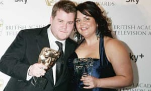 Gavin and Stacey stars James Corden and Ruth Jones at the 2008 Baftas