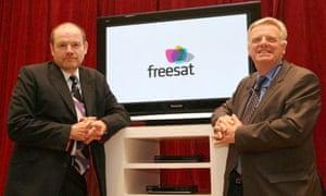 Freesat launch - Mark Thompson and Michael Grade