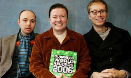 Karl Pilkington, Ricky Gervais and Stephen Merchant