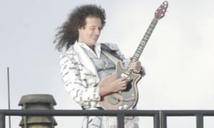 Brian May atop Buckingham Palace