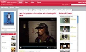 Last.fm video interview channel