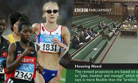 Paula Radcliffe and BBC Parliament - composite pic