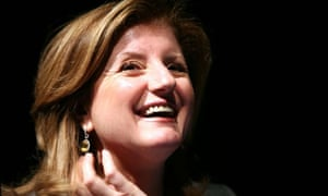 Arianna Huffington of The Huffington Post in conversation with Alan Rusbridger at Sadlers Wells