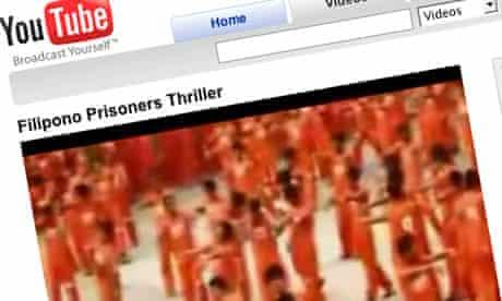 YouTube: prisoners do the Thriller dance