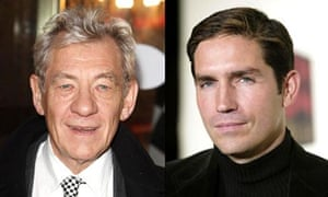 Ian McKellen, left, and Jim Caviezel