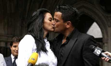 Katie Price (Jordan) and Peter Andre after getting compensation from News of the World