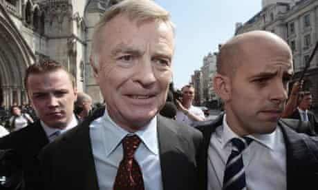Max Mosley outside the high court