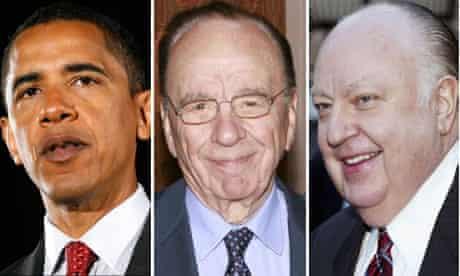 Barack Obama, Rupert Murdoch and Roger Ailes