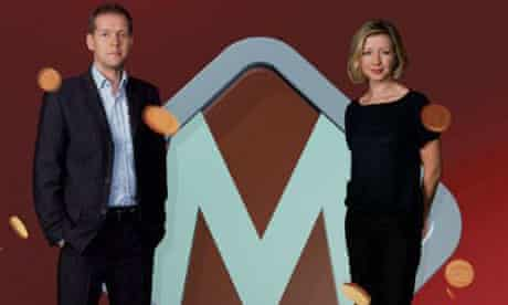 The Money Programme presenters Max Flint and Libby Potter