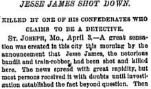 New York Times - Jesse James shot