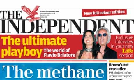 The Independent - first full-colour issue, September 2008