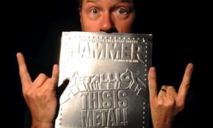 Metallica's James Hetfield with a cover of Metal Hammer magazine