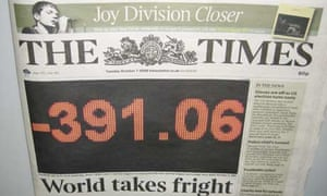 Times front page, Oct 7 2008