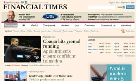 Financial Times website