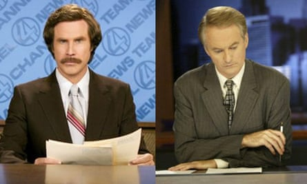 Ron Burgundy and Larry Mendte montage