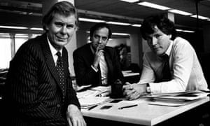 Founders of the Independent newspapers, from left, Andreas Whittam Smith, Steven Glover and Matthew Symonds