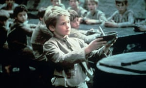 Mark Lester as Oliver in the 1968 Oscar-winning film of the same name
