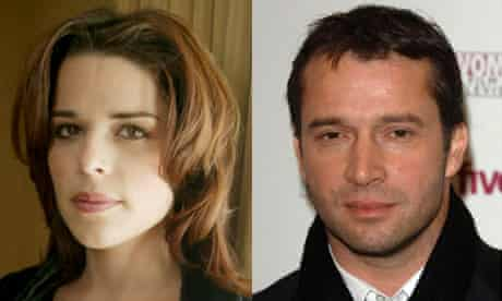 Neve Campbell and James Purefoy composite. Photographs: Rex/PA