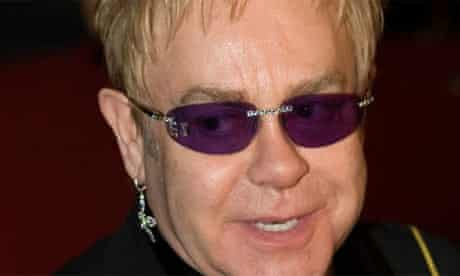 Elton John. Photograph: Alexander Zemlianichenko/AP