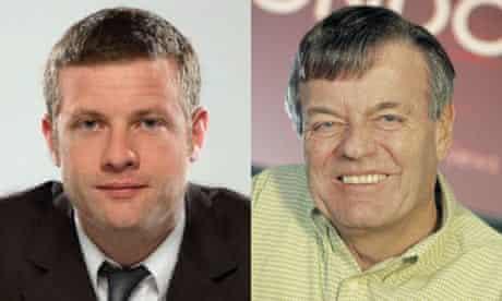 Dermot O'Leary and Tony Blackburn composite