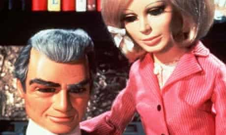 The Thunderbirds - Jeff Tracy and Lady Penelope. Photograph: Reuters