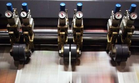 Guardian printing presses in Stratford, East London