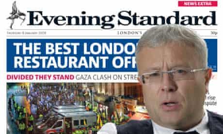 Alexander Lebedev and London Evening Standard montage