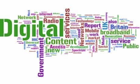 Digital Britain - Wordle word cloud