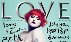 Beth Ditto on the front cover of Love magazine