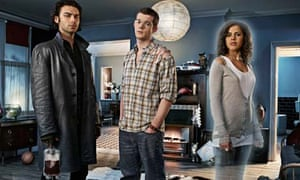 Being Human: stars Russell Tovey, Aidan Turner and Lenora Crichlow