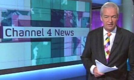 Jon Snow presenting Channel 4 News