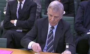 Max Mosley giving evidence to the culture, media and sport committee at the House of Commons in March 2009