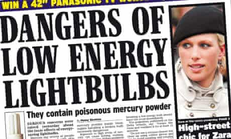 Daily Express lightbulbs splash