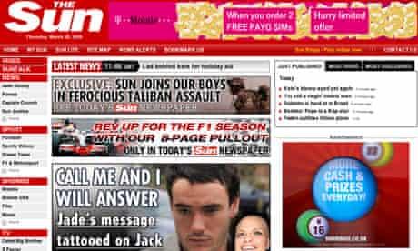 The Sun website