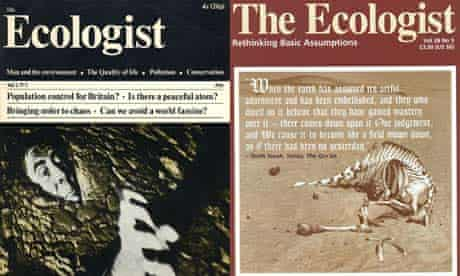 The Ecologist magazines: 1970 launch issue and 1998 Monsanto issue