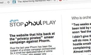 Phorm 'Stop Phoul Play website'