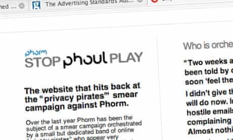 Phorm 'Stop Phoul Play website'