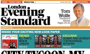 Evening Standard redesign - May 2009