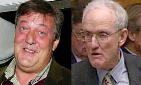 Stephen Fry and Douglass Hogg MP