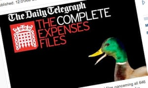 Daily Telegraph: Complete Expenses Files 'duck logo'